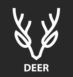 line icon deer head vector image