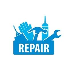 logo for repair vector image