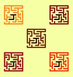 Maze game board game collection vector