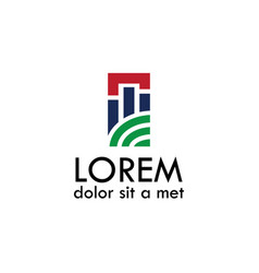 Modern building symbol logo vector