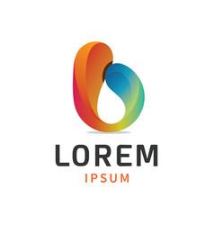 modern letter b logo vector image