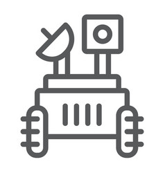 Moon rover line icon space and exploration vector