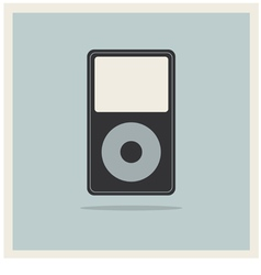 Musc Media MP3 Player on Retro Vintage Background vector image