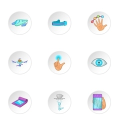 New thing icons set cartoon style vector image