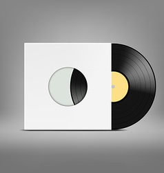 old vinyl record vector image