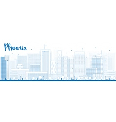 Phoenix outline vector