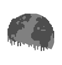 pollution earth black planet poisonous waste vector image