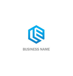 polygon shape line business logo vector image