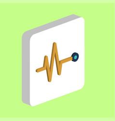 Pulse cardiogram computer symbol vector