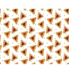 Purim hamantaschen seamless pattern Jewish vector image