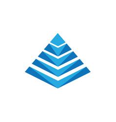 Pyramide icon vector