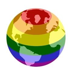 Rainbow planet isometric 3d icon vector