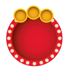 red round bubble with circle icon vector image