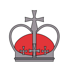 royal crown with crosses icon image vector image