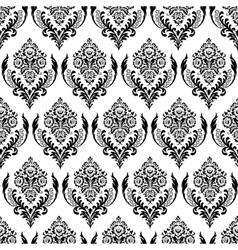 Seamless damask background vector image