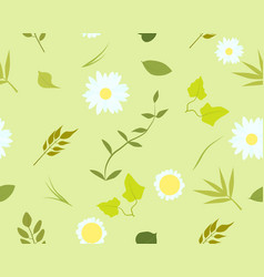 Seamless pattern of summer leaves vector