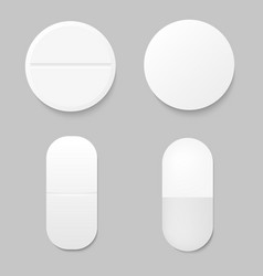 set of realistic drugs vector image