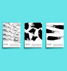 set paint brush design background for banner vector image