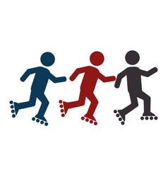 Skate athlete silhouette icon vector