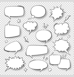 Speech bubbles vintage word bubbles retro bubbly vector