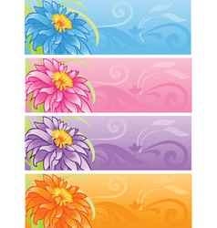 spring flowers banner set vector image