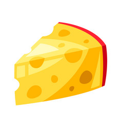 Stylized cheese slice vector
