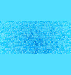 swimming pool bottom caustics ripple and flow vector image
