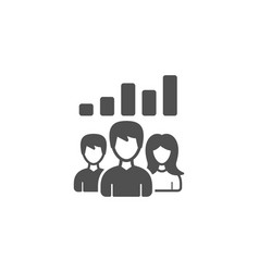 Teamwork results simple icon group of people vector
