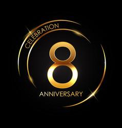 Template 8 years anniversary vector