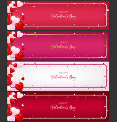 Template of voucher card as valentine conception vector