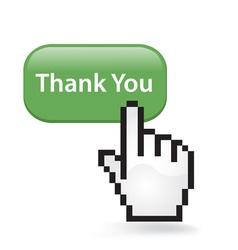 Thank you button vector