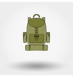 Travel backpack vector