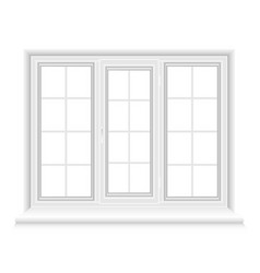 whtie triple closed window vector image