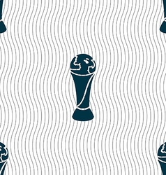 World cup icon sign Seamless pattern with vector image