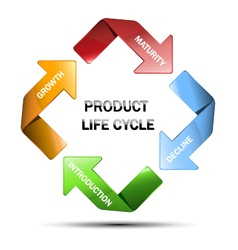 Diagram of product life cycle vector