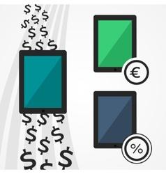 Flat tablets set vector image