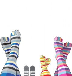 happy family in stripy socks vector image