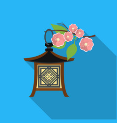 japanese lantern icon in flat style isolated on vector image