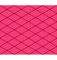 Pink Seamless Isometric Background vector image vector image