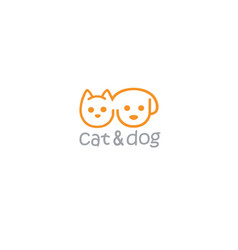 cat and dog pet logo template vector image vector image