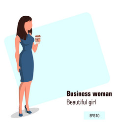 character beautiful business woman 10 vector image vector image