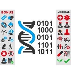 Genome Code Icon vector image