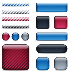 glossy buttons and bars vector image vector image