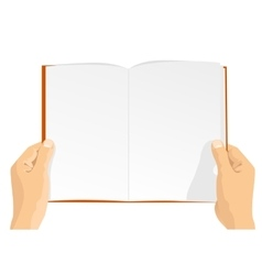 hands holding a blank book vector image vector image