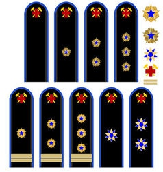 Insignia Russian emergency workers vector image vector image