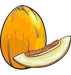 melon fruit cartoon vector image vector image