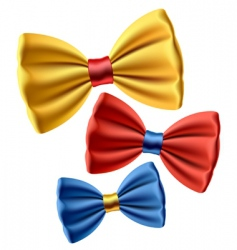 set of colored bow ties vector image