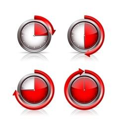 Set of Timer clocks vector image