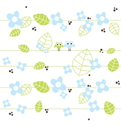 Cute seamless pattern with owls vector image