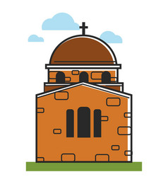 cyprus cathedral or orthodox monastery symbol vector image vector image
